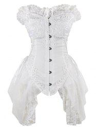 Lace Trim Asymmetric Waist Training Corset -