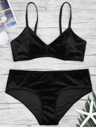 Lingerie Velvet Bra and Panties Set -