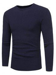 Stripe Jacquard Stretchy Pullover Sweater -