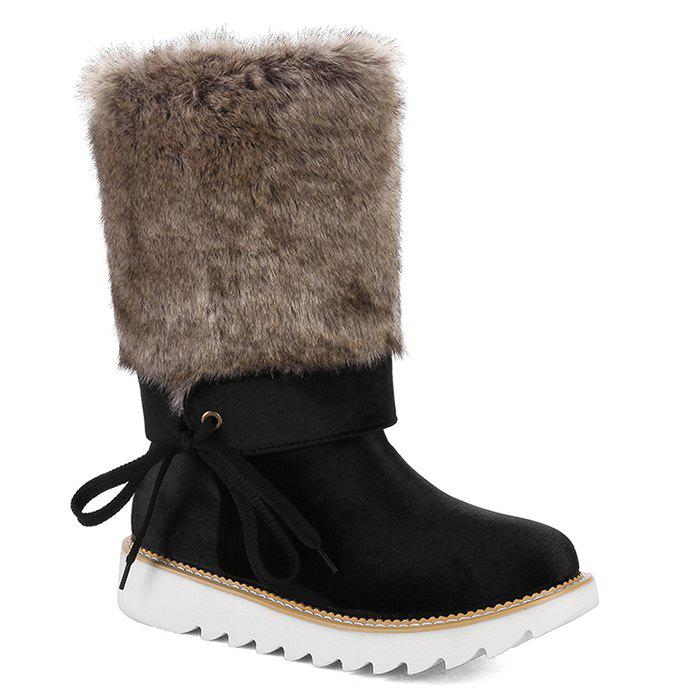 Outfits Furry Mid Calf Boots