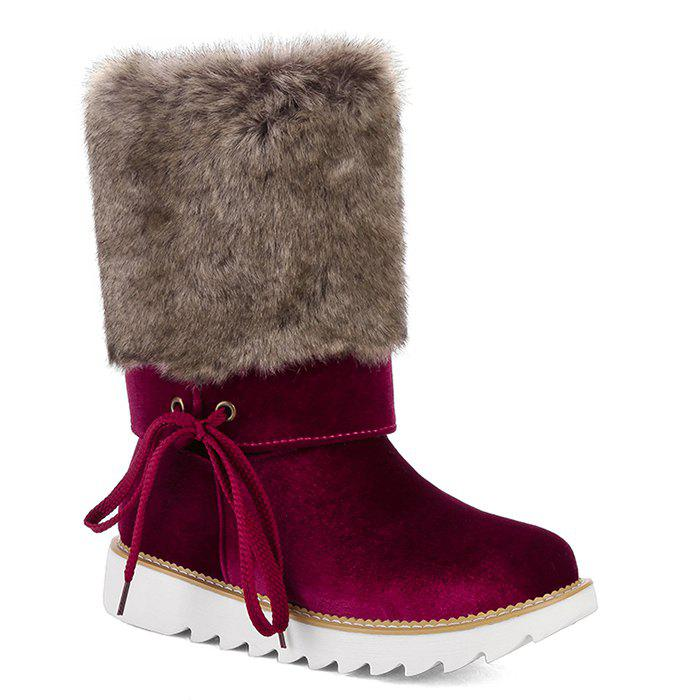 Fashion Furry Mid Calf Boots