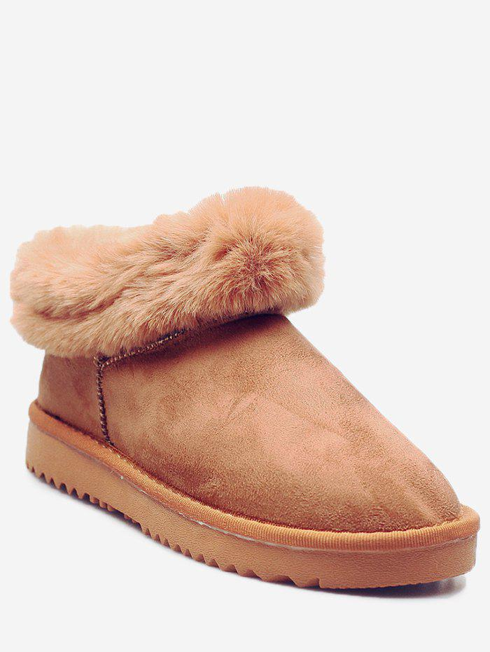 Cheap Winter Faux Fur Trim Ankle Boots