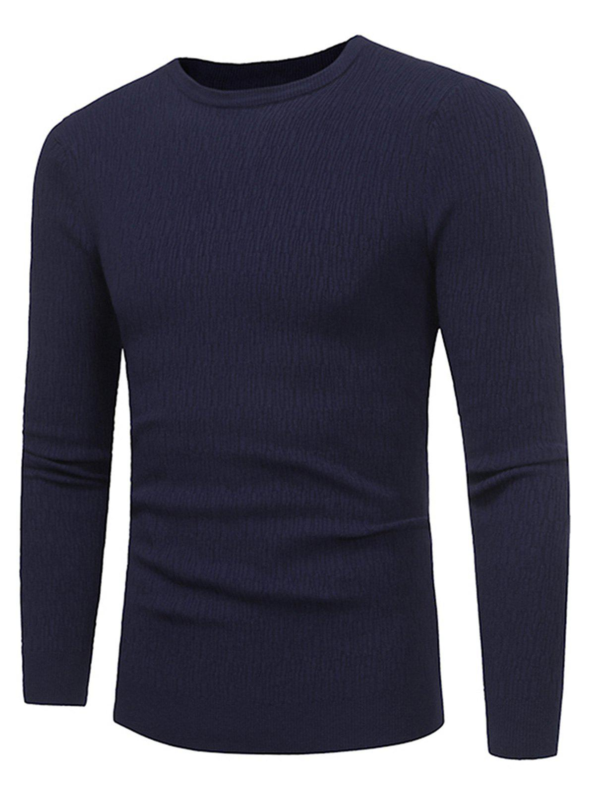 Store Stripe Jacquard Stretchy Pullover Sweater