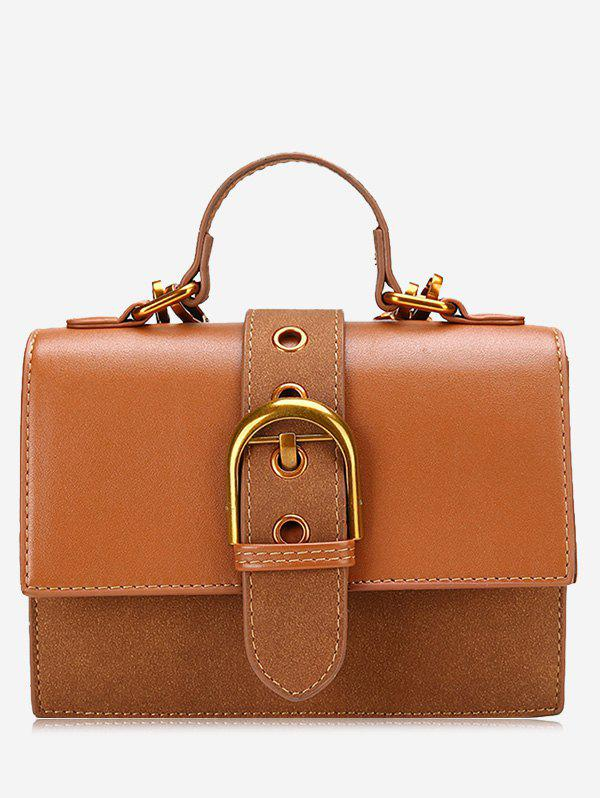 Buy Buckle Strap Stitching PU Leather Crossbody Bag