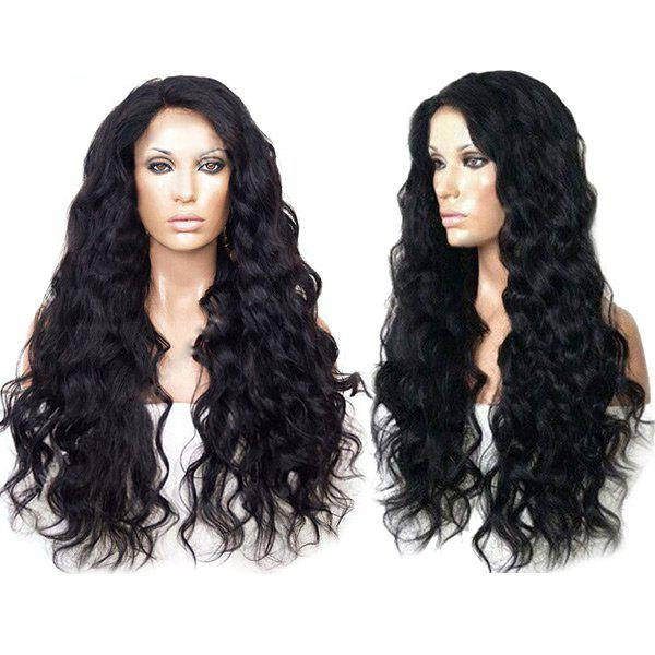Discount Long Side Parting Shaggy Body Wave Synthetic Wig