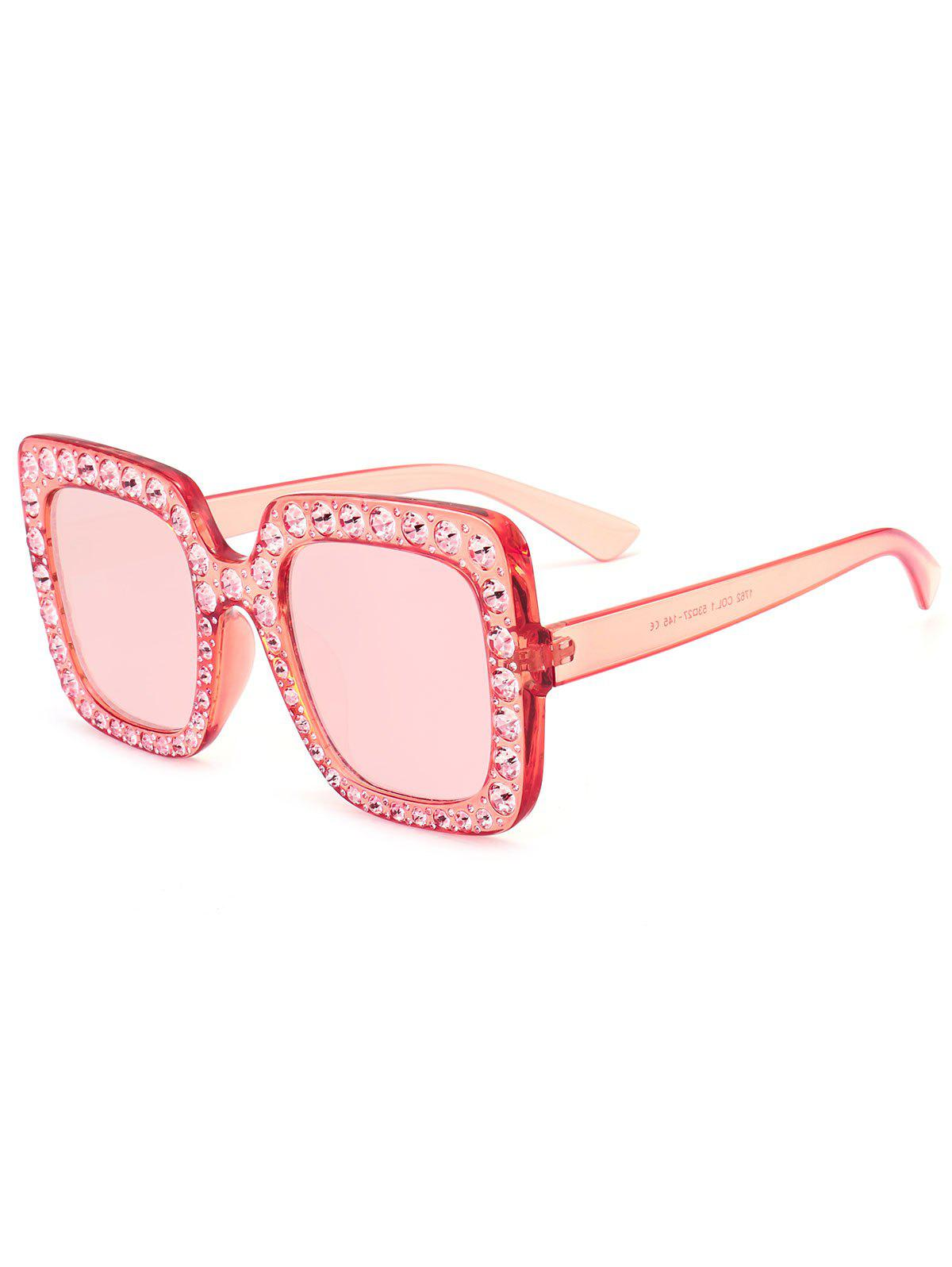 Affordable Vintage Rhinestone Embellished Oversized Square Sunglasses