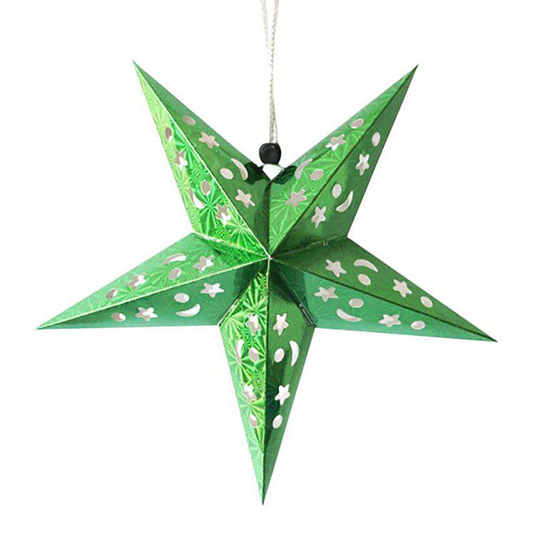 Outfits 10Pcs Star Shape Christmas Party Laser Hang Decorations