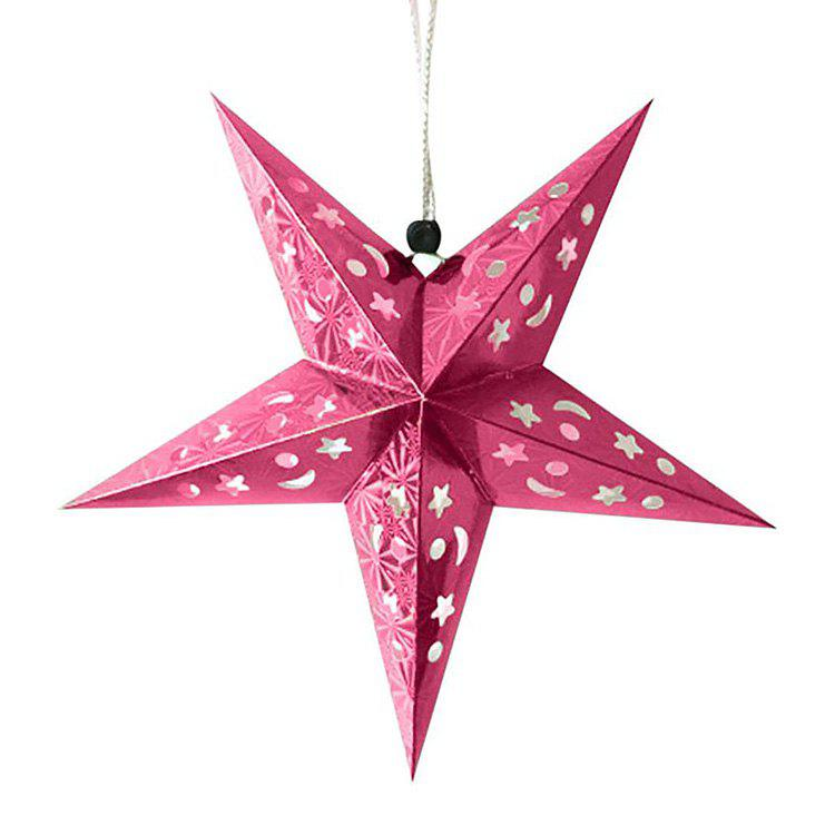Unique 10Pcs Star Shape Christmas Party Laser Hang Decorations