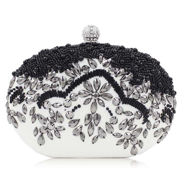 Store Chain Rhinestone Beading Evening Bag