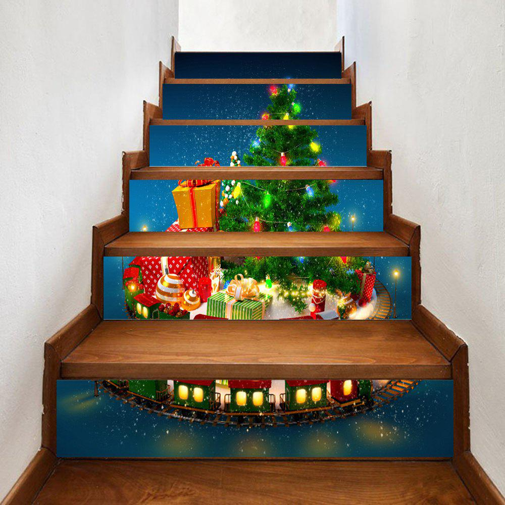 Christmas Gifts Tree Pattern Decorative Stair StickersHOME<br><br>Size: 100*18CM*6PCS; Color: GREEN; Wall Sticker Type: Plane Wall Stickers; Functions: Stair Stickers; Theme: Christmas; Pattern Type: Christmas Tree; Material: PVC; Feature: Removable; Weight: 0.3500kg; Package Contents: 1 x Stair Stickers;