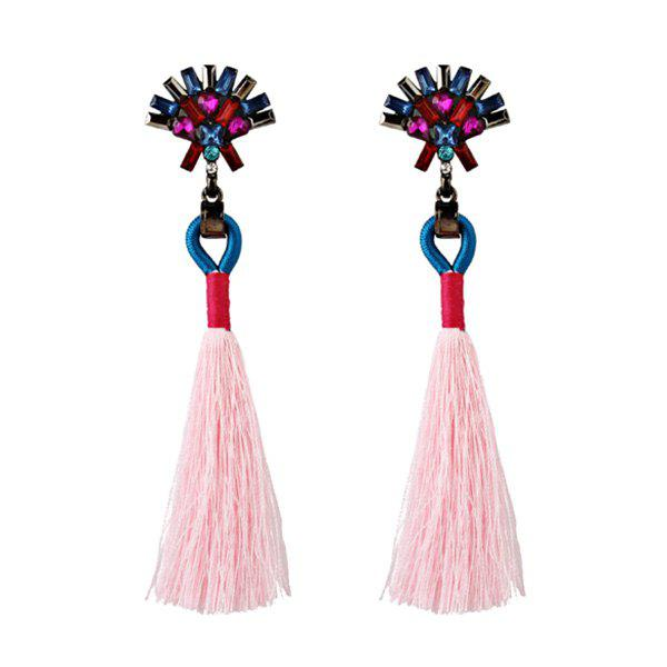 Affordable Artificial Crystal Geometric Tassel Earrings