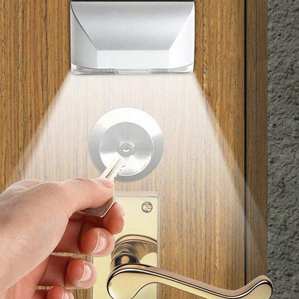 Auto Door Lock Lamp Keyhole Smart Sensor LED Night LightHOME<br><br>Color: WHITE; Products Type: Night Light; Style: Trendy; Material: PC; Package Contents: 1 x Lock Light;