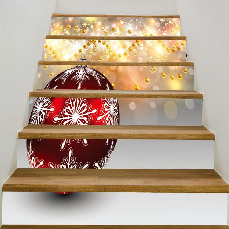 DIY Decorative Baubles Pattern Stair StickersHOME<br><br>Size: 100*18CM*6PCS; Color: COLORFUL; Wall Sticker Type: Plane Wall Stickers; Functions: Stair Stickers; Theme: Christmas; Pattern Type: Ball; Material: PVC; Feature: Removable; Weight: 0.3100kg; Package Contents: 1 x Stair Stickers (Set);