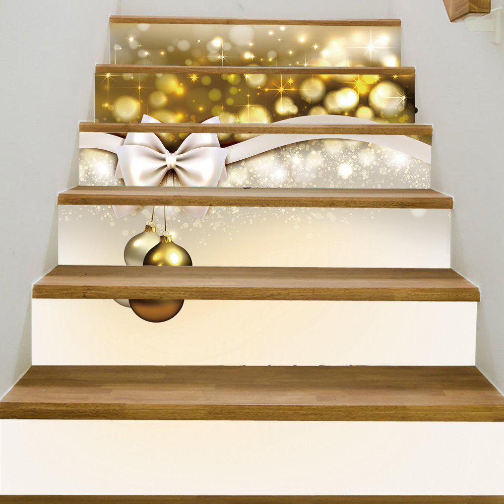 Christmas Bowknot Baubles Pattern Decorative Stair StickersHOME<br><br>Size: 100*18CM*6PCS; Color: COLORMIX; Wall Sticker Type: Plane Wall Stickers; Functions: Stair Stickers; Theme: Christmas; Pattern Type: Ball,Bowknot; Material: PVC; Feature: Removable; Weight: 0.3600kg; Package Contents: 1 x Stair Stickers;