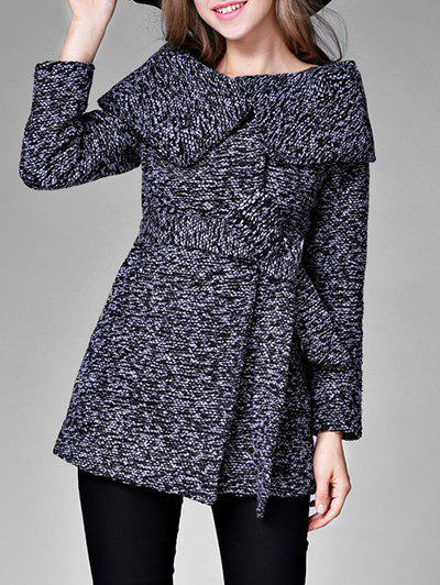 Discount High Waisted Tweed Coat with Belt