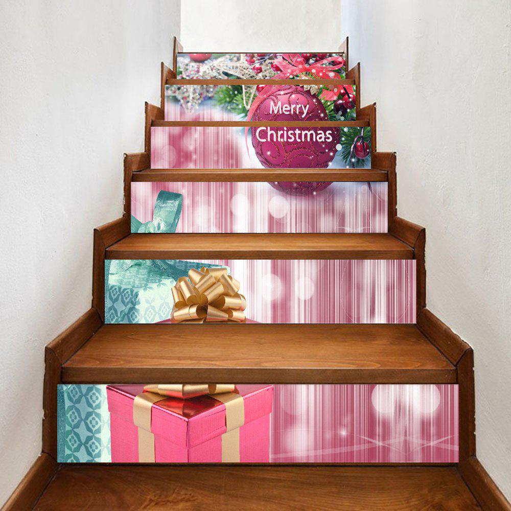 Christmas Presents Ball Pattern Decorative Stair StickersHOME<br><br>Size: 100*18CM*6PCS; Color: COLORMIX; Wall Sticker Type: Plane Wall Stickers; Functions: Stair Stickers; Theme: Christmas; Pattern Type: Ball; Material: PVC; Feature: Removable; Weight: 0.3500kg; Package Contents: 1 x Stair Stickers;