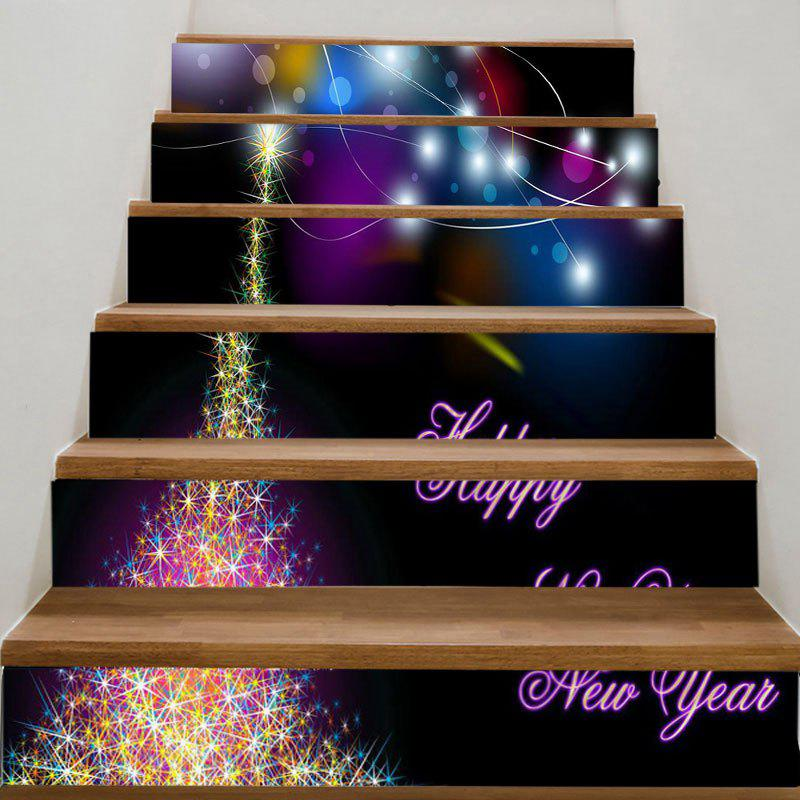 Dream Starlight Pattern Stair StickersHOME<br><br>Size: 100*18CM*6PCS; Color: COLORFUL; Wall Sticker Type: Plane Wall Stickers; Functions: Stair Stickers; Theme: Words/Quotes; Pattern Type: Star; Material: PVC; Feature: Removable; Weight: 0.3100kg; Package Contents: 1 x Stair Stickers (Set);