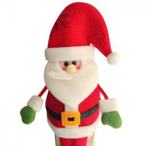 2PCS Christmas Decorative Santa Claus Wine Bottle Covers -