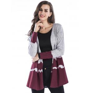 Two Tone Open Front Cardigan -