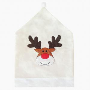 Christmas Elk Nonwoven Embroidered 1PCS Chair Cover -