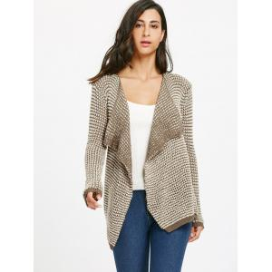 Casual Collarless Long Sleeve Knitted Cardigan For Women -
