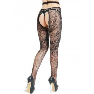 Voir à travers Cut Out Lingerie collants -