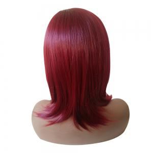 Medium Side Parting Natural Straight Synthetic Wig -