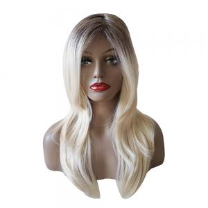 Long Side Parting Colormix Wavy Synthetic Wig -