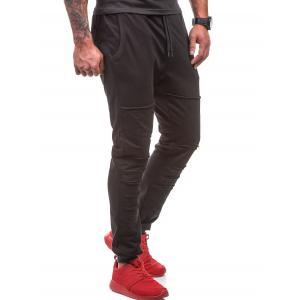 Distressed Drawstring Waist Jogger Pants -