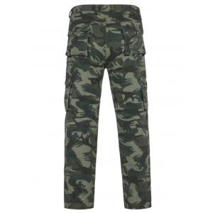 Camouflage Pockets Zipper Fly Cargo Pants -