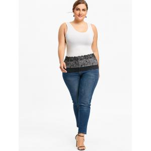 Lace Extender Plus Size Sheer Skirt -