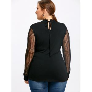 Плюс Размер Mock Neck Sheer Top -