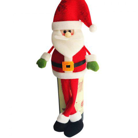 New 2PCS Christmas Decorative Santa Claus Wine Bottle Covers