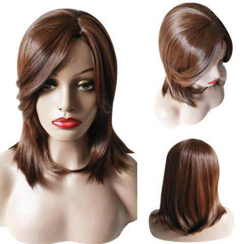 Outfit Medium Side Parting Natural Straight Synthetic Wig