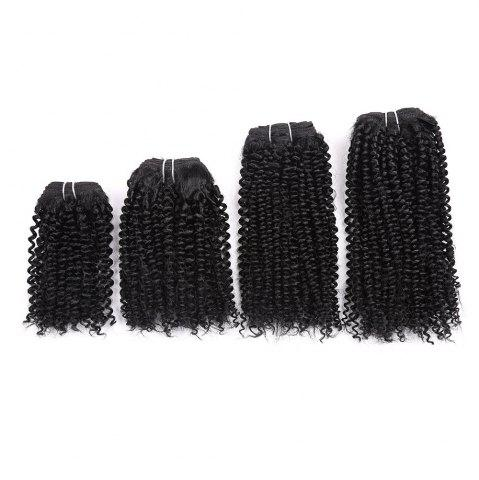 Fancy Short Cork Curly 4 Pieces Synthetic Hair Weaves