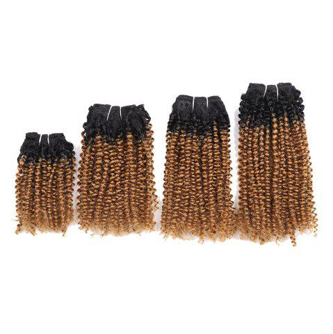 Best Short Cork Curly 4 Pieces Synthetic Hair Weaves
