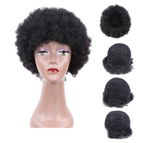 Fancy Short Fluffy Afro Curly Heat Resistant Synthetic Wig