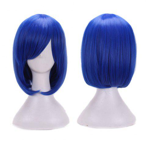 Chic Short Side Bang Straight Bob Cosplay Synthetic Wig