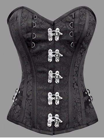 Affordable Steel Boned Plus Size Brocade Corset