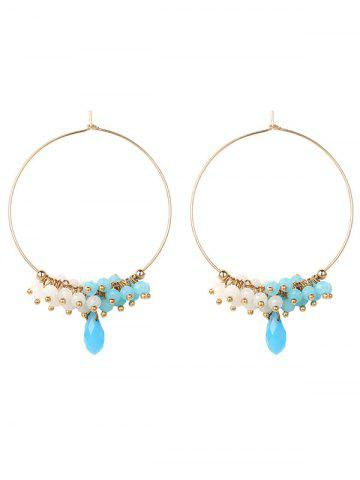 Shop Alloy Circle Beaded Hoop Earrings