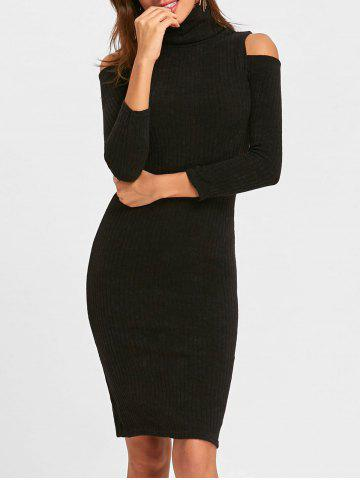 Store Cold Shoulder Bodycon Midi Sweater Dress