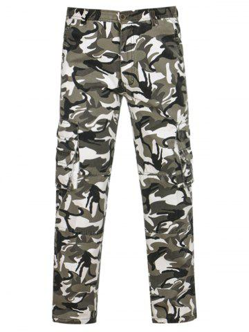 Latest Camouflage Pockets Zipper Fly Cargo Pants