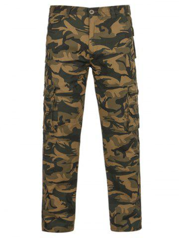 Sale Camouflage Pockets Zipper Fly Cargo Pants