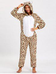 Fleece Leopard Bear Animal Onesie Pjs -