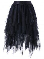 Layered Asymmetrical Tulle Skirt -