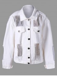 Chains Embellished Holes Jacket -