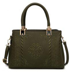 PU Leather Embossed Handbag -