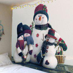 Waterproof Snowman Family Printed Wall Tapestry -