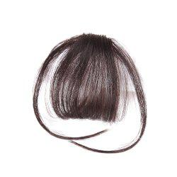 Human Hair Short Clip-in See-through Fringe Hair Piece With Temples -