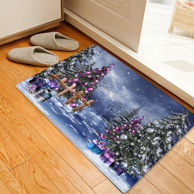 Christmas Trees Gifts Pattern Anti-skid Water Absorption Area RugHOME<br><br>Size: W20 INCH * L31.5 INCH; Color: COLORMIX; Products Type: Bath rugs; Materials: Flannel; Pattern: Christmas Tree,Gift; Style: Festival; Shape: Rectangle; Package Contents: 1 x Rug;
